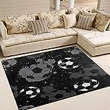 Use7 Teppich, abstrakter Fußball, Wasserfarben, 160 x 122 cm