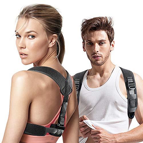 Correttore Postura Schiena Regolabile Supporto Traspirante Indietro, Corretta Postura per Donna e Uomo