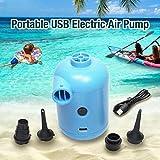 Dreameryoly Pompa ad Aria elettrica Portatile USB, Micro gonfiatore con 3 ugelli, Usato per Il Materasso Gonfiabile della Piscina, Barca Gonfiabile, Letto Gonfiabile