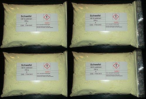 1000 g Schwefel, sublimiert, säurearm, reinst >99,9% für Elementarsammlung
