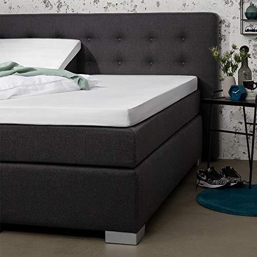 Splittopper Hoeslaken - Wit - 160x210 cm - Percal Katoen - Presence - Voor Matrassen Tot 10 CM