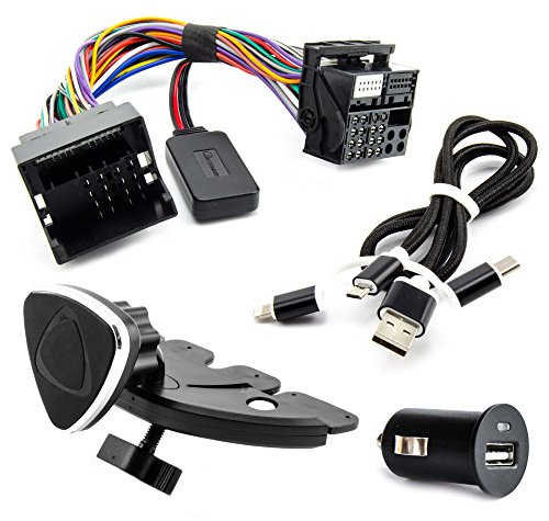 Watermark Vertriebs GmbH & Co. KG Bluetooth Aux Adapter Set für Opel CD30 MP3 CDC40 Opera Radio Musik Streaming