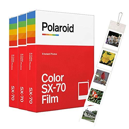 Polaroid Originals SX70B & W Film, 3er-Pack (24Aufnahmen) + Gratis Wandalbum