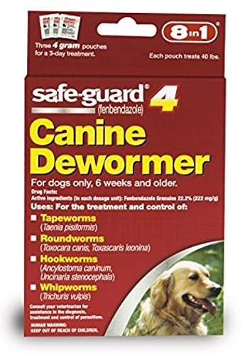 Dog Dewormer Canine 8in1 Safe Guard Safeguard Dogs Large Puppies Pet Wormer 4gr