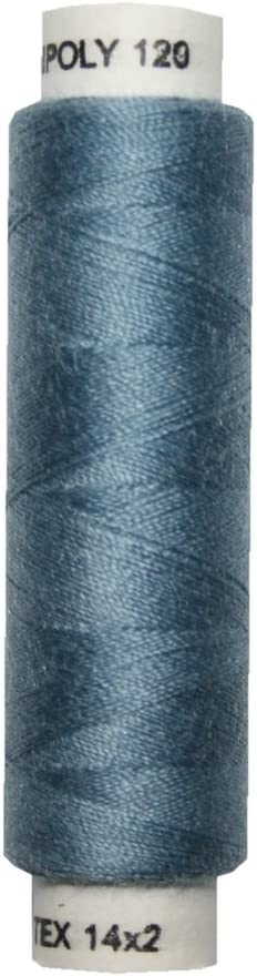 0,02€//m Nähmaschinen Nähgarn 100 m Polyester UNIPOLY 14x2 blau 0653