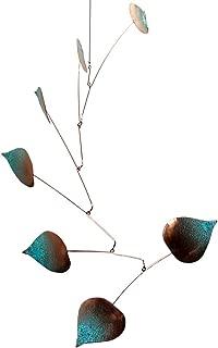 Modern Artisans Aspen Leaves Spinning Copper Mobile Indoor Outdoor, Standard 7-Leaf Version, American Made