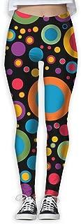 XMKWI Color Circle Womens Power Flex High Waist Yoga Pants Workout Tights Leggings Trouser