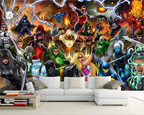 Avengers Photo Wallpaper Marvel Comics Mural De Pared Papel Pintado 3d Personalizado Niños Dormitorio Oficina Hotel Escuela Decoración De La Sala Superhéroe Ancho 350 cm * Altura 250 cm