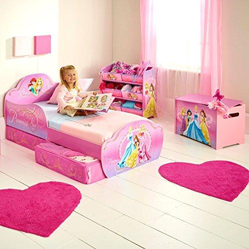 Disney Lit Enfant Princesse avec Rangement + Matelas Mousse