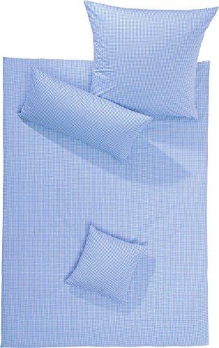 Lorena Batist Bettwäsche Basel Mini-Karo hellblau 1 Bettbezug 135x200 cm + 1 Kissenbezug 80x80 cm