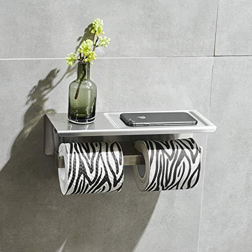 Leekayer SUS304 Edelstahl Toilettenpapierhalter,gebürstetes Nickel Wandhalterung klorollenhalter Rollenhalter wc Papier Halterung Klopapierhalter