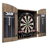 DMI Sports Dublin Bristle Dartboard Cabinet Set - Bristle Dartboard Cabinet Included, tan
