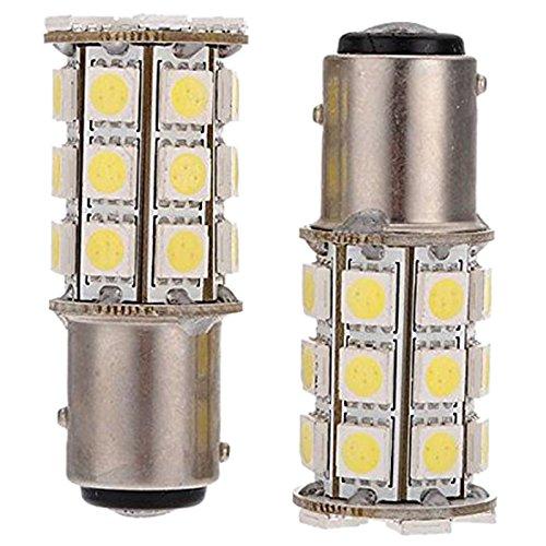 LED feux de freinage - TOOGOO(R)2 x 1157-T25 BAY15D P21/ 5W 27 SMD5050 12V LED feux de freinage Blanc Lumiere