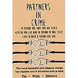 Partners in Crime Wish Bracelets Meilleurs amis BFF Bracelets pour 3 filles Femmes Amitié Bracelets de menottes assortis pour couples, maman et fille