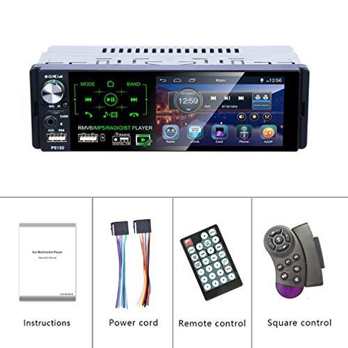 WXZQ P5130 Universal Design Car 7 Pulgadas Doble DIN Car Radio Audio Estéreo Reproductor MP5 Estación FM Cámara retrovisora inalámbrica Negro