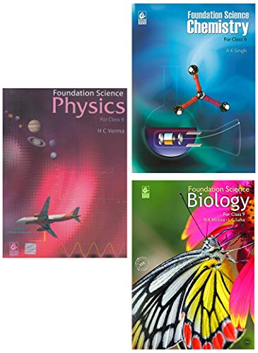 Foundation Science of Class 9 (2019-20) - Physics, Chemistry, Biology (Set of 3 books)