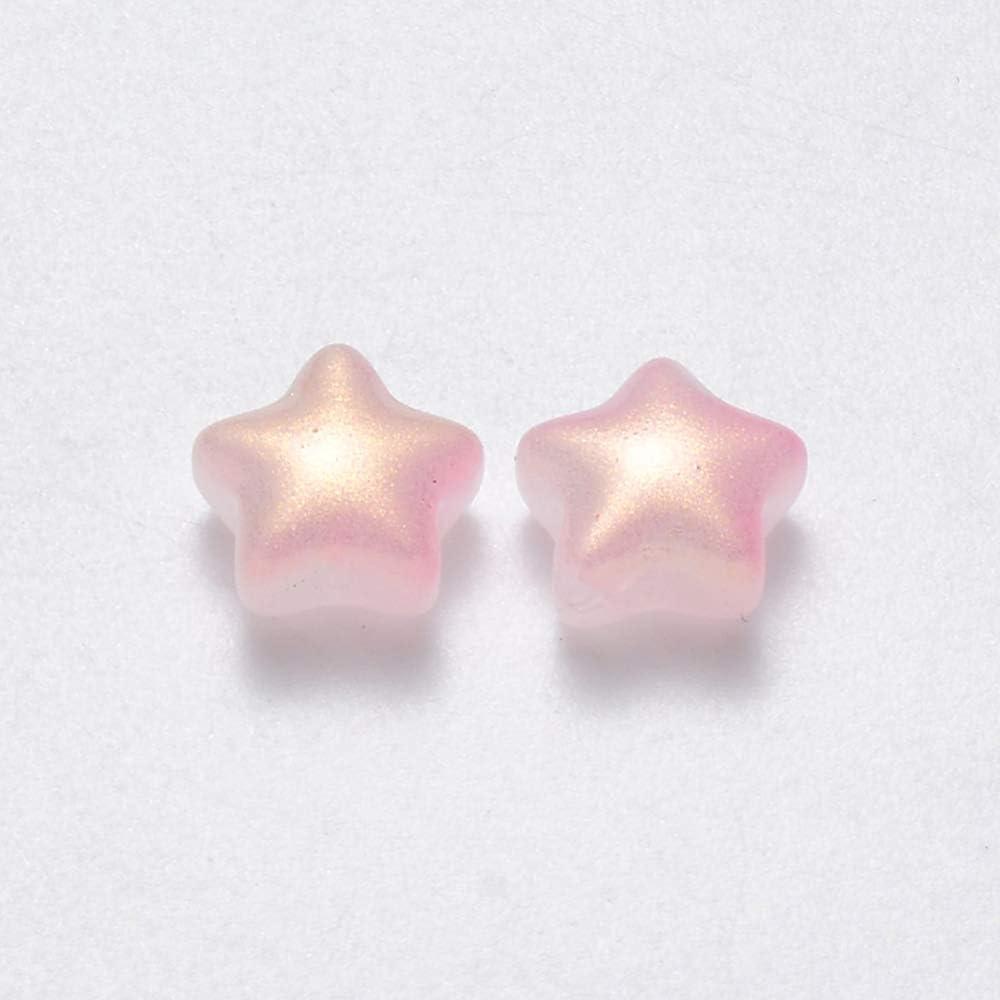 bracciali per orecchini collane gioielli fai da te UR URLIFEHALL 100 perline a forma di stella in vetro verniciato a spruzzo