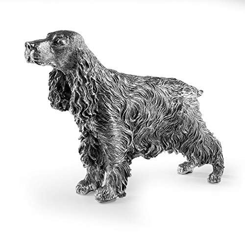 Silver Basket Cocker Spaniel Dog–in Argento Sterling. Marchio e Made in England