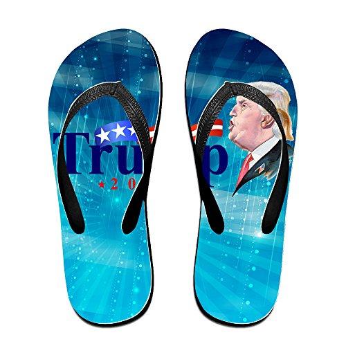 shehe Presidente elecciones EE 2016unisex ocio playa chanclas sandalias negro