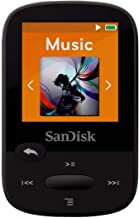 SanDisk Clip Sport 8GB MP3 Player with LCD Screen and MicroSDHC Card Slot- Black - SDMX24-008G-G46K (Renewed)