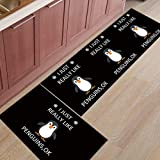 HLXX Alfombra de Cocina como pingüinos alfombras de área Moderna Sala de Estar Entrada de casa Alfombra de baño Felpudo Alfombra de Pasillo A1 40x60cm