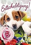 Tarjeta de felicitación de cumpleaños con diseño de perro (5,2 x 7,4 cm)