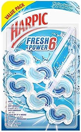 Harpic Fresh Power 6 Toilet Cleaner - Marine Splash, Twin Pack of 39g