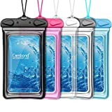 Floatable Waterproof Phone Pouch, Cambond Universal Waterproof Case for iPhone 12 pro Xs Max XR X 8 7 6 Plus, Lanyard Dry Bag Waterproof Pouch for Snorkeling Pool Beach Kayaking Travel, 5 Pack
