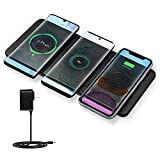 Wireless Charger Station, JE Qi Certified Ultra-Slim Leather Wireless Charging pad for Multiple…
