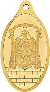 WHP Jewellers 24kt (999) 2 gram Lord Balaji Yellow Gold Balaji Pendant