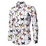 シャツ 紳士服 Yindaity 長袖シャツ メンズ シャツ 花柄 アロハシャツ 総柄プリントシャツ 紳士肌着 前開き ランニング 男性用シャツ おしゃれ 大きいサイズ 和柄 秋 夏 ビーチシャツ 速乾 超軽量 プリントシャツ