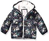 Carter's Girls' Little Fleece Lined Puffer Jacket Coat, Floral On Gray, 6X