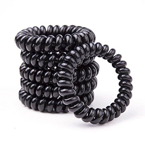 Egurs 5 stks Dikke Haarbanden Haarbanden Bands Touw telefoon Lijn Haar Loop Touw Set Zwart