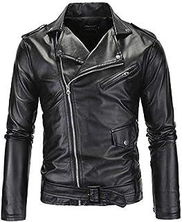Black Leather Biker Jacket For Men