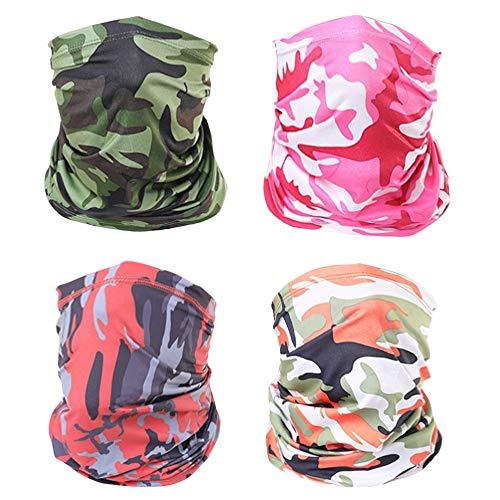 Lantch Outdoor Funktionstücher für Herren Multifunktionstuch Schal Sports Elastische Sonnenschutz Schal (C-003, 4PCS)