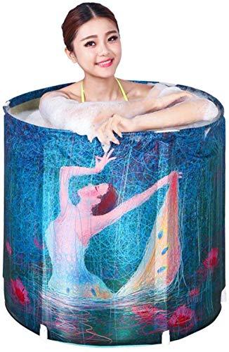 RXL, Faltbadewanne Folding Bad Barrel Haushalt Erwachsene Ganzkörper Tragbarer Tief Blase, Klein Badewanne Adult-Badebottich aus Holz Barrel Mini Aufblasbare Badewanne