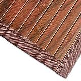 casa pura Bambusteppich Magenta (Braun) | für Bad und Wohnzimmer | natürlich wohnen Bambus | Bambusmatte in vielen Größen (150x200 cm)