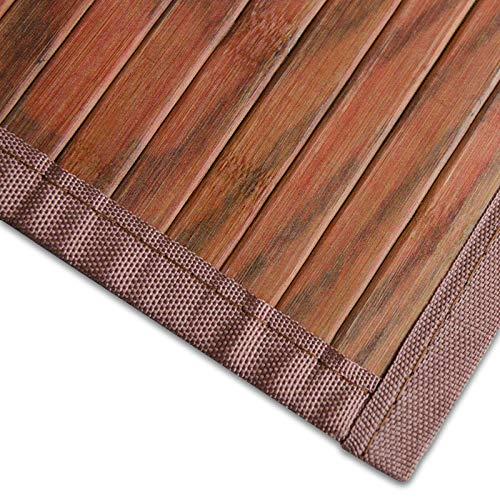 casa pura Bambusteppich Magenta (Braun) | für Bad und Wohnzimmer | natürlich wohnen Bambus | Bambusmatte in vielen Größen (200x300 cm)