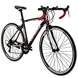 Outroad Road Bike 700C 21 Speed 26 inch Spoke Wheels Disc Brakes Riders Bikes Commuter Bicycle (Black&Red)