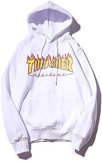 Thrasher Flame Magazine Hoodie Hip-hop Fashion Skateboard Magazine Hoodie Couple's Sweatshirt For Man and Woman