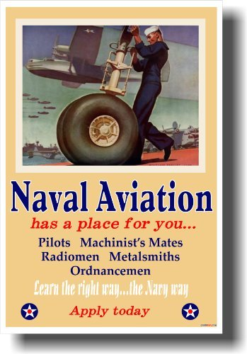 Naval Aviation Has a Place For You - Vintage WW2 Reproduction Poster by PosterEnvy