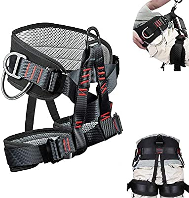 Adjustable Thickness Climbing Harness Half Body Harnesses for Fire Rescuing Caving Rock Climbing Rappelling Tree Protect Waist Safety Belts