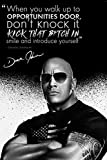 Dwayne Johnson 'The Rock' quote Foto gedrucktes Poster –