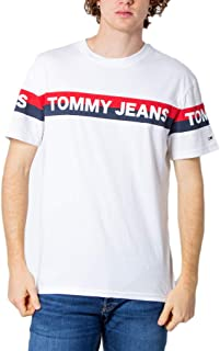 Tommy Jeans Men's TJM Double Stripe Logo Tee T-Shirt