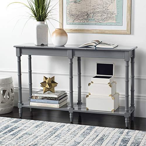 Safavieh Home Noam Coastal Grey Bamboo Style Console Table