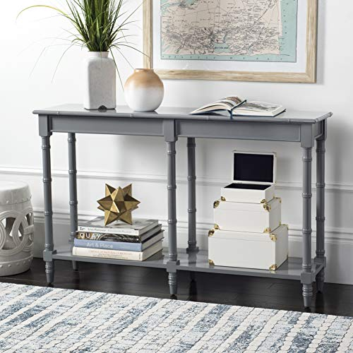 Safavieh Home Noam Coastal Grey Bamboo Style Console Table