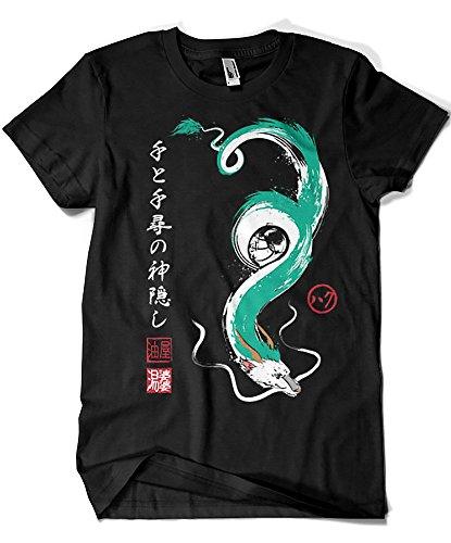 3447-Camiseta Premium, Studio Ghibli - Spirit of The Kohaku River (Dr.Monekers)