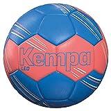 Kempa Leo Ballon de Handball Taille Unique Rouge Fluo/Bleu