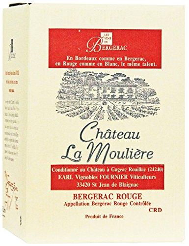 Château La Moulière 2019 A.O.C. Bergerac Rouge Bag-in-Box Rotwein trocken (1 x 5l)