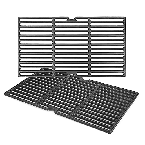 QuliMetal 19.4' Cast Iron Sear Cooking Grates for Traeger 22 Series and Pit Boss Pellet Grills (Traeger Pro 780/575 and Any Pellet Smoker Grill)